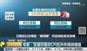 猪周期提前开启!专家:生猪价格对CPI拉升作用将增强
