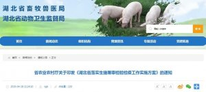 省农业农村厅关于印发《湖北省落实生猪屠宰检验检疫工作实施方案》的通知