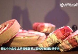 """广美毕业展周星驰""""猪肉档""""重出江湖,80岁老人竟""""爬上""""展台"""