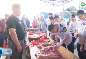 汉川市市场监督管理局开展猪肉市场检查
